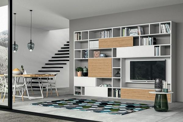 Nuvola wandmeubels, boekenkasten, sideboards of tv-audiomeubels