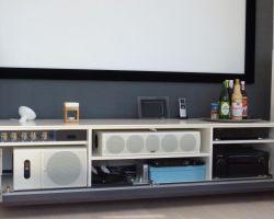 Nuvola audiomeubel met speakerdoek klep