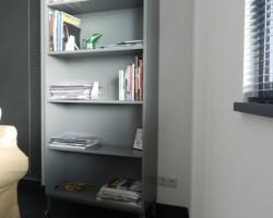 Nube boekenkast grijs