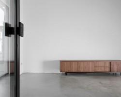 Nube sideboard noten fineer retro design