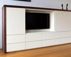 Nube tv-meubel wit-donker hout
