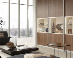 Raffito wandmeubel met vitrines